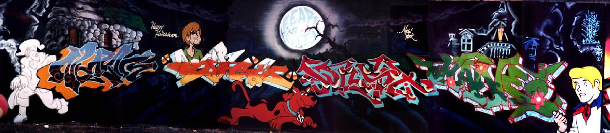 Scooby-Doo graffiti wall